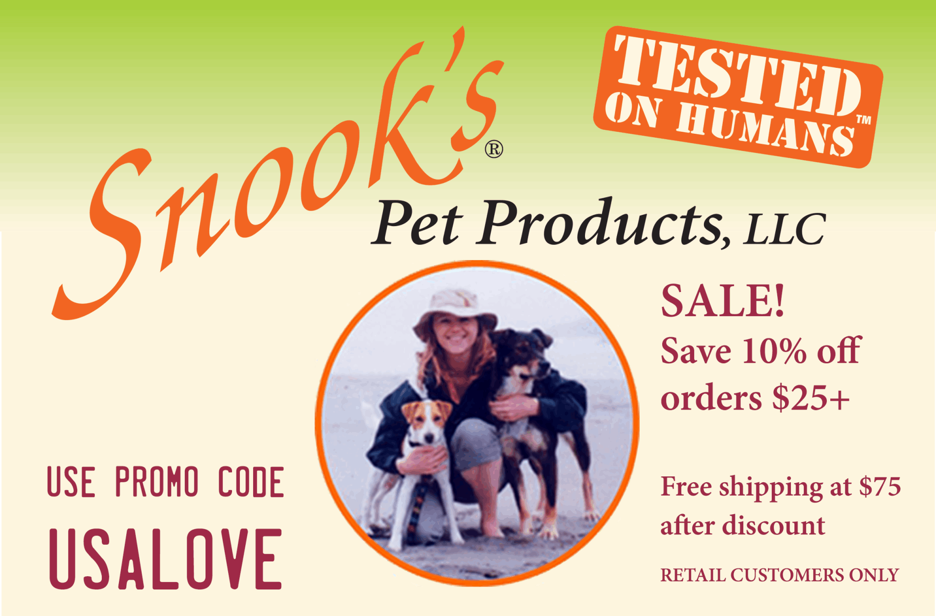 Snook's USA LOVE Special - Save Now