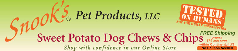 Snook's Sweet Potato Dog Chews and Chips